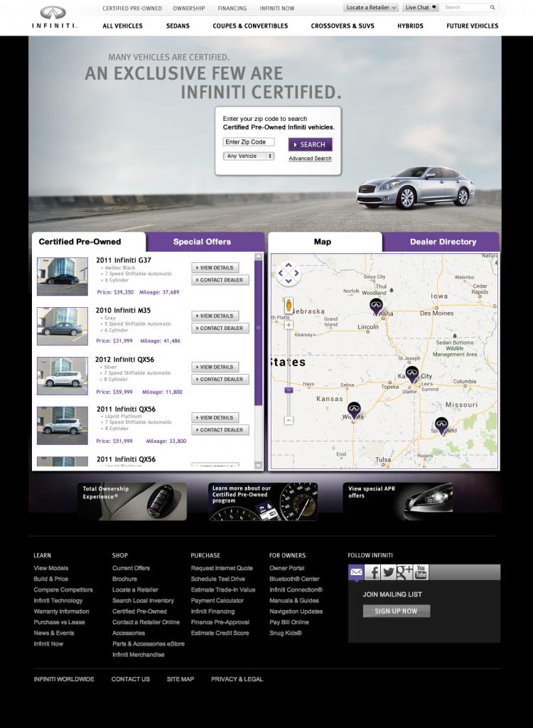 Infiniti Associates Website
