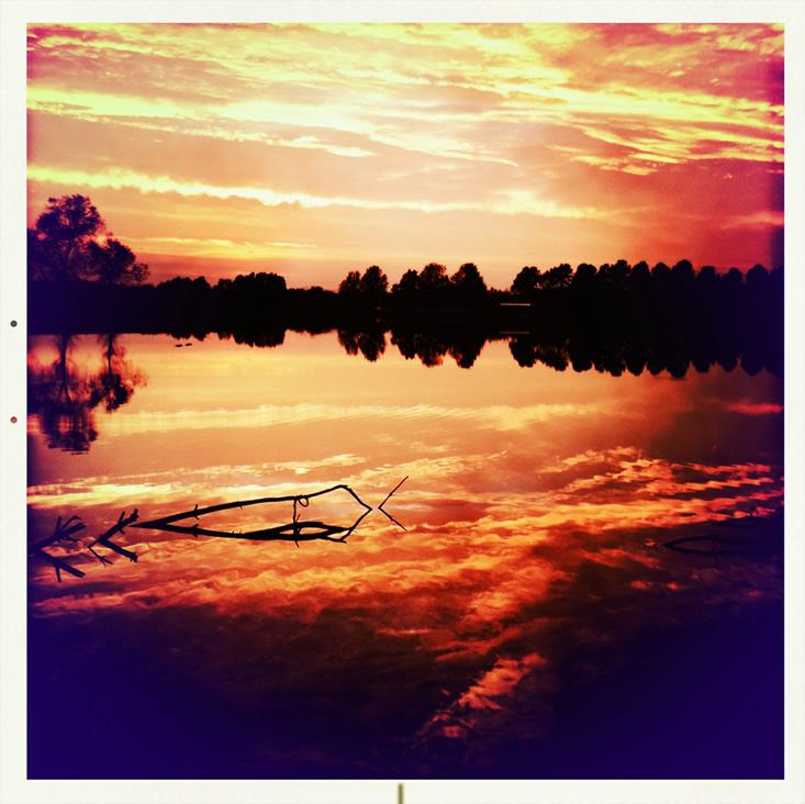 Sunset at Catclaw Lake