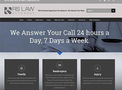 Website Design for RSLAWKC.com